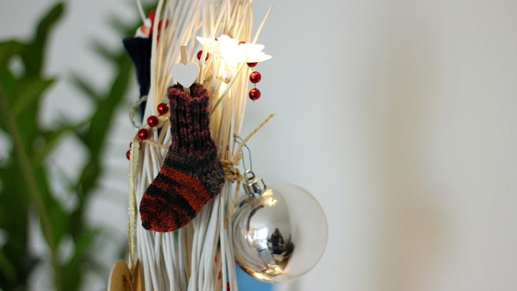 Persönliche Details an unserem nachhaltigen Zero Waste Weihnachtsbaum